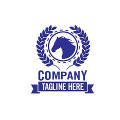 Horse emblem template mascot symbol Vector Vintage Design Element.