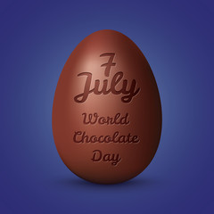 Illustration with chocolate and typography elements