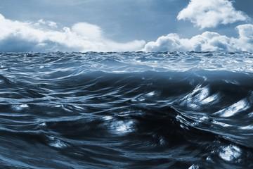 Composite image of blue rough ocean