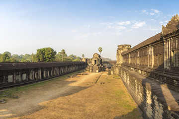 Angkor Wat temple with morning light, Cambodia