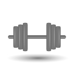 Dumbbell colorful icon