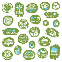 collection of natural organic product icons