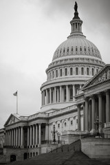 Washington DC - The Capitol Building toned in black and white