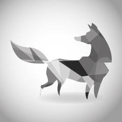 Animal design. Polygon concept. Shape and Origami icon, vector illustration