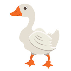 Cartoon Goose Vector Illustration