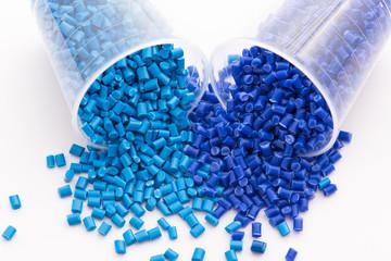 blaues Kunststoff Granulat