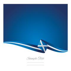 Abstract color background Scotland flag vector