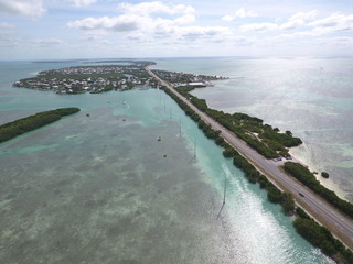 Florida Keys tropical aerial image