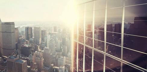Image of a city landscape on a sunny day