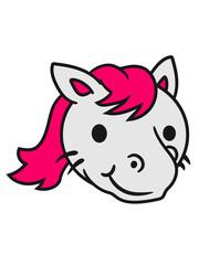 face head kawaii kitten unicorn pferdchen horse sweet cute girl little foal happy