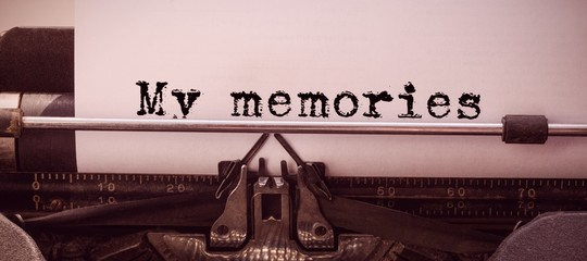 Composite image of the word my memories against white background