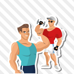 Healthy lifestyle design, fitness and bodybuilding concept