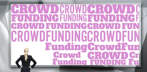 Composite image of  word crowdfunding against white background