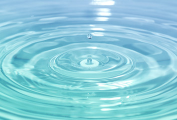 Close up detail of a splashing water drop