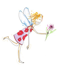 Engel mit Blume