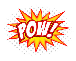 Pow! comic splash bubble text