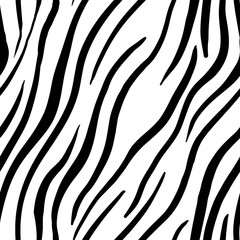 Zebra Stripes Seamless Pattern. Print design