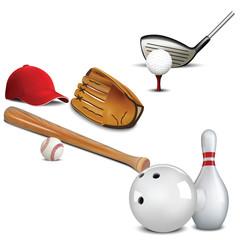 Baseball, golf, bowling, sport