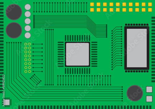 Circuit board flat design\
