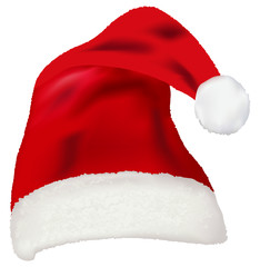 Vector of red Santa Claus hat
