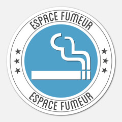 Logo espace fumeur.
