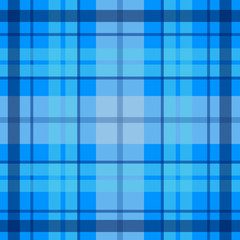 Vector seamless scottish tartan pattern in blue, navy. British or irish celtic design for textile, fabric or for wrapping, backgrounds, wallpaper, websites