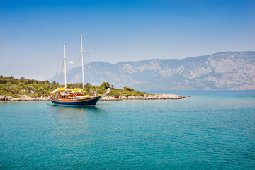 View of Aegean Sea near Marmaris, Turkey