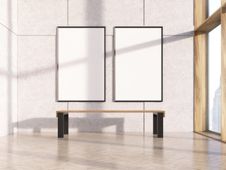 Two blank frames
