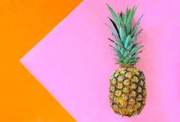 Pineapple on a stylized background