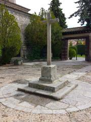 Sculpture of a stone cross