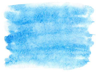 Printed roller blinds Fantasy Landscape Blue blot.Watercolor background.Abstract texture watercolor hand drawn illustration.Blue splash.