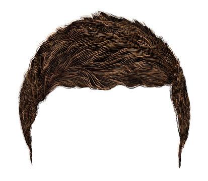 trendy man hairs   .  short  length . beauty  style .realistic  3d .