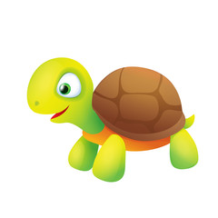 Cute Cartoon Turtle Smiling