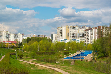 Boulevard in Zelenograd Administrative District of Moscow