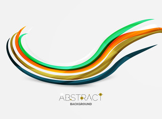 Colorful stripes wave composition, business template