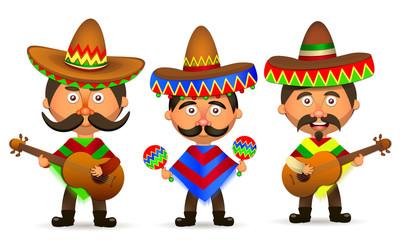 Mexican in a sombrero