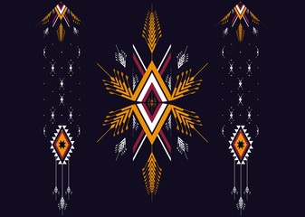 Geometric ethnic pattern seamless design for background,wallpaper,clothing and wrapping.
