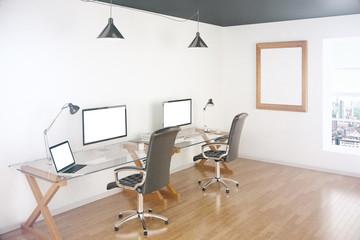 Blank screens in office
