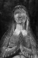 Statue Of Virgin Mary (antique statue, religion)