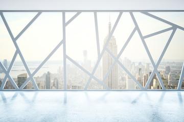 Creative interior with NY view