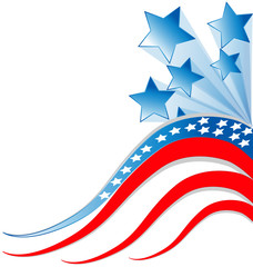American Flag vector background