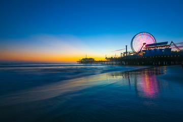 Santa Monica Pier Sunset Wall mural