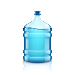 Icon big bottle with clean water. Plastic container for the cool