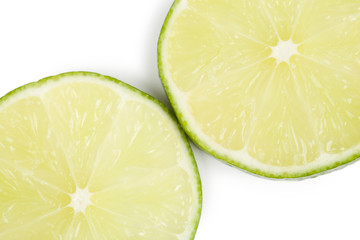 two lime slices