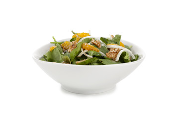 bowl of healthy spinach salad