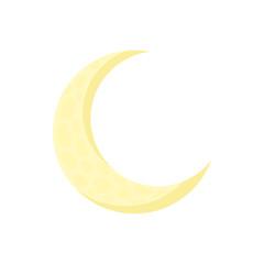 Moon icon in cartoon style