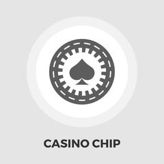 Gambling chips flat icon.