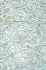 White roses pressed in tissue