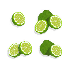 Lime set isolated on white background