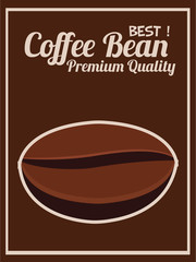 Coffee bean poster